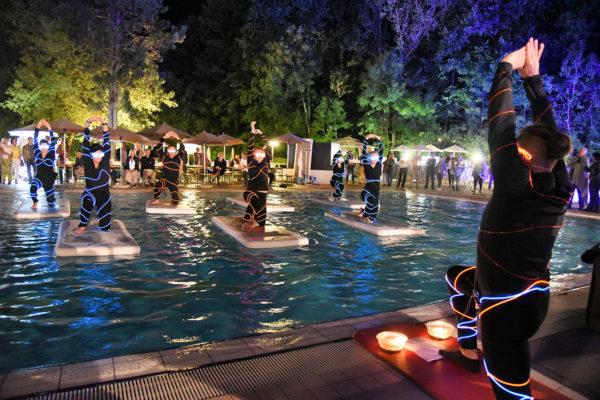 FloatFit-Show beim Sommerfest der Heiltherme